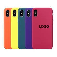 Liquid Silicone case for iphone Xr silicone case XS Xr MAX, for iphone xs max case logo