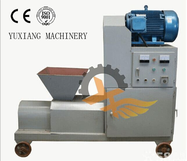 Best charcoal coal slurry briquette machine to make all shapes of charcoal briquette from Yu Xiang machinery