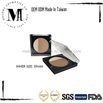 Private Label Waterproof Makeup Cosmetics Face Compact, Whitening Powder, Two Way Compact, Wet&Dry Compact Powder