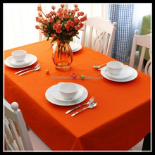 Quality cotton orange bamboo weave table cloth for restaurant and hotel