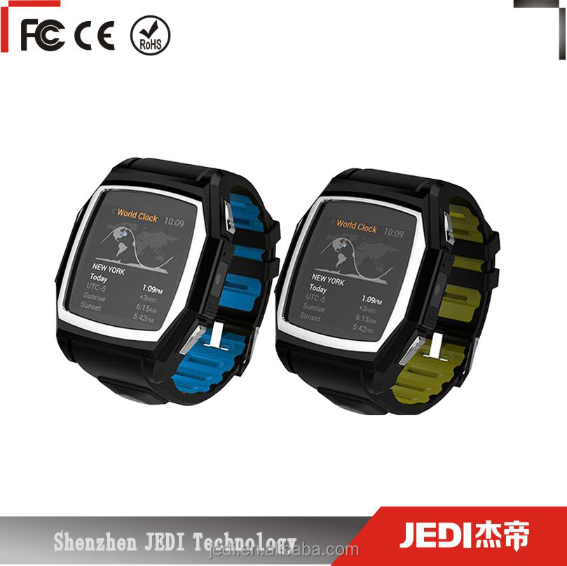 Latest wrist watch mobile phone with dual sim card slot and TF card