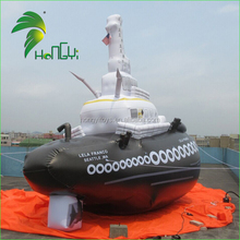 Giant 4.5M Length Custom Design Amazing Shape Inflatable Water Tug Boat for Sale