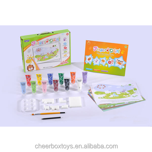 colorful kids drawing painting Non-toxic Water Color Finger Paint