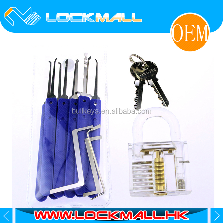 NEW Model Unlocking tools / crochetage lockpicking locksmith 9pcs Lock Pick Set with 4pcs wrenches + Padlock LP0096