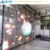 P10 Glass led screen with high transparent rate indoor flexible led curtain display