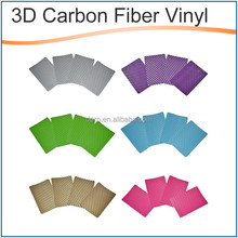 Classic Sticker durable 3D carbon film self adhesive vinyl cutting film for Car Decoration