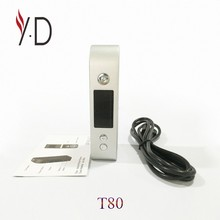 T80 Best selling Cheapest E-cig vape box mod packaging digital temperature controller in China
