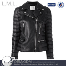 High Quality Wholesale Custom Cheap fashion winter women pu leather jacket coat and motorbiker for sale