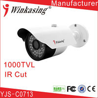 CCTV manufacturer supply Bullet CMOS Waterproof white&black high resolution cctv camera YJS-C0711