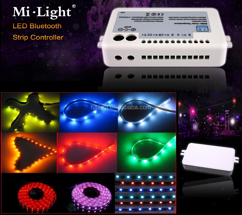 Mi light Bluetooth RGBW led Controller Wireless IOS Android Led Strip Bluetooth 4.0 Control color flashing musicstrip controller