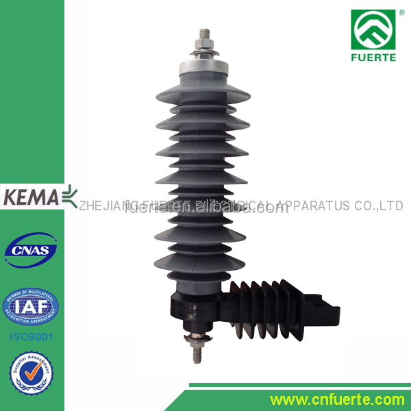 21kV polymer lightning arrester with terminal and cap