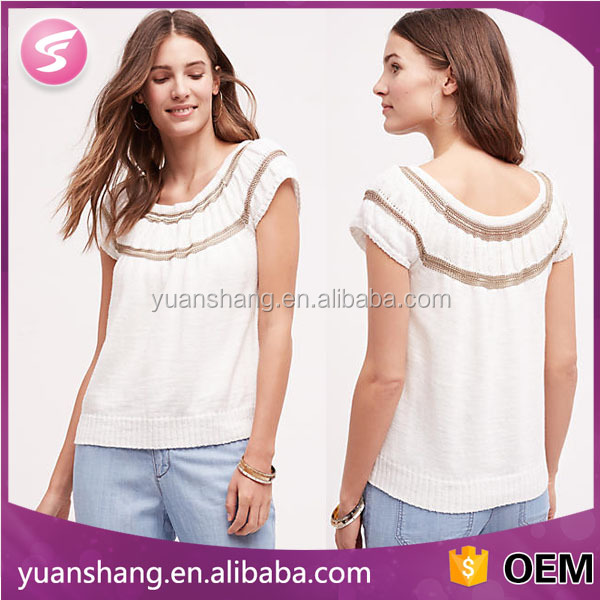 wholesale plain white crop tops ladies casual shirts pictures ladies clothes