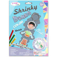Shrinkable plastic sheet key chain kit arts and crafts