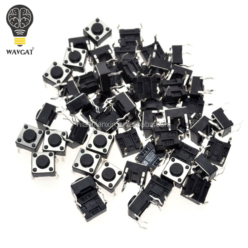 6x6x4.3MM 4PIN G89 Tactile Tact Push Button Micro Switch Direct Plug-in Self-reset DIP Top Copper