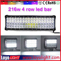 17 inch 216w led light bars for off-road,multi beam spot flood combo, LOYO 4 row series