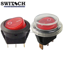R13-31SW1N IP65 SPST waterproof illuminated rocker switch with dust cover