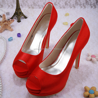Red High Heel Sexy Wedding Shoes Women