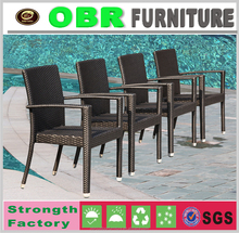 Hot selling garden furniture stackable resin wicker chairs