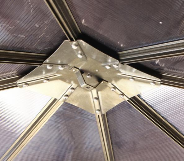 야외 알루미늄 전망대 3x3 m 큰 정원 테라스 지붕 캐노피 천막 ...