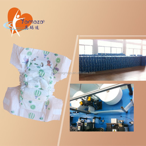 Egypt and Africa countries hot sale dispoasable printed baby diaper with magic tapes in bale manufacturer in China
