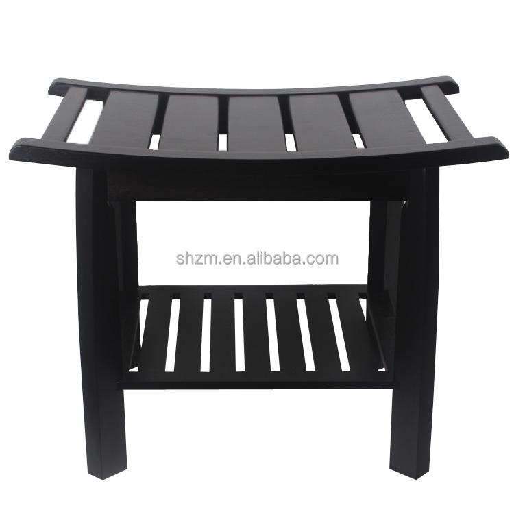 Luxe Badkamerspecialist ~   Bamboe Bench met Opslag Utility Plank in Natuurlijke Badkamer Plank