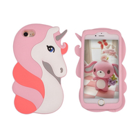 Factory Cheap Price Premium Durable Protective Fashion Unicorn Soft Liquid Silicone Rubber Case For Iphone 6 7 Cell Phone Cover