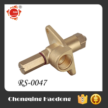 Manufacture spray brass tank fitting bbq gas nozzle