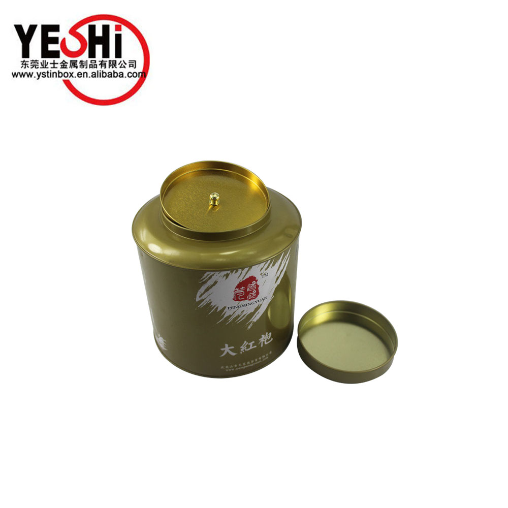 0.18-0.35 mm food grade tinplate large volume tea tin can