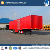 Low Price 3 Axles Enclosed Box Dry Cheap Van Semi Trailer for Sale