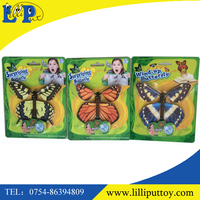 Promotional wind up flying butterfly toys surprising toys from the card or the book