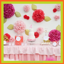 Hot sale Beautiful Paper Flowers Wedding Wall Decorations