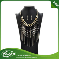 High Fashion Multicolor Strand String Necklaces & Earrings Set for Women