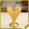 Decorative Gold color electroplating glass candle holder wholesale