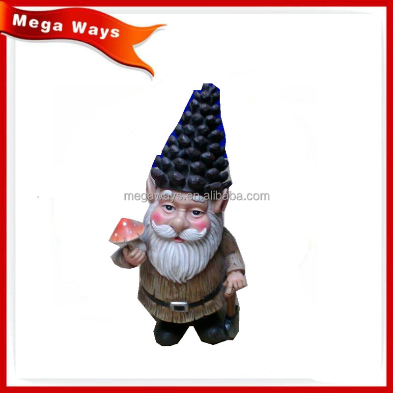 Hot resin pinecone santa figurines with watering can for outdoor use