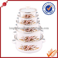 Glass Cover Ceramic coating casserole with stand