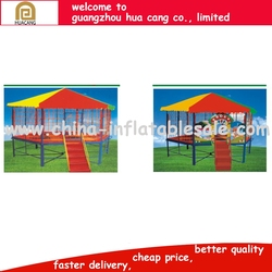 Trampoline park outdoor exercise fitness equipment, Manufacturer Sports Fitness Beds Trampoline