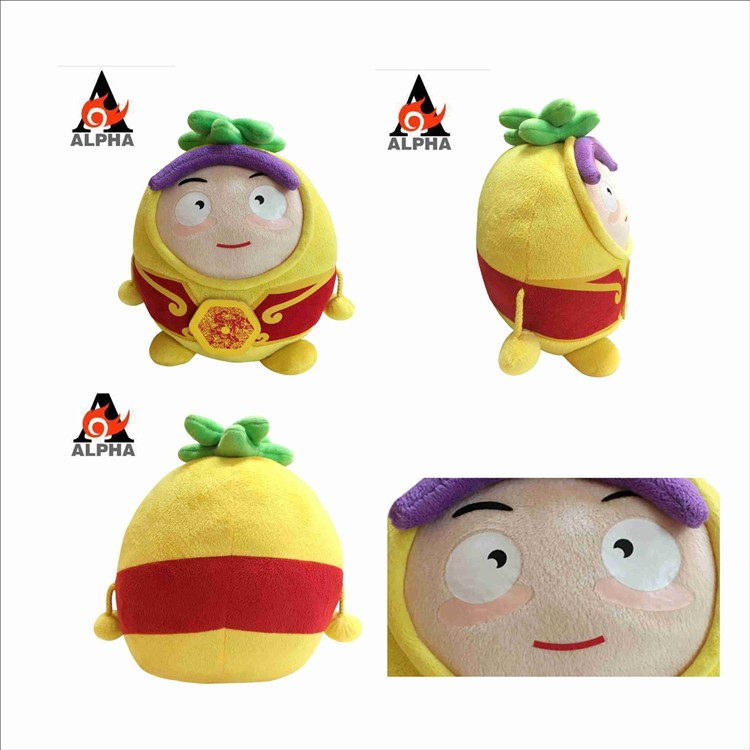 "Alpha Animation Auldey Customize 10"" creative plush stuffed toy pineapple for kid"