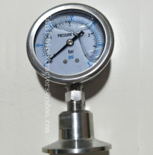 SS304 0-150PSI Oil Liquid Type Sanitary Vacuum Gauge/Pressure Gauge