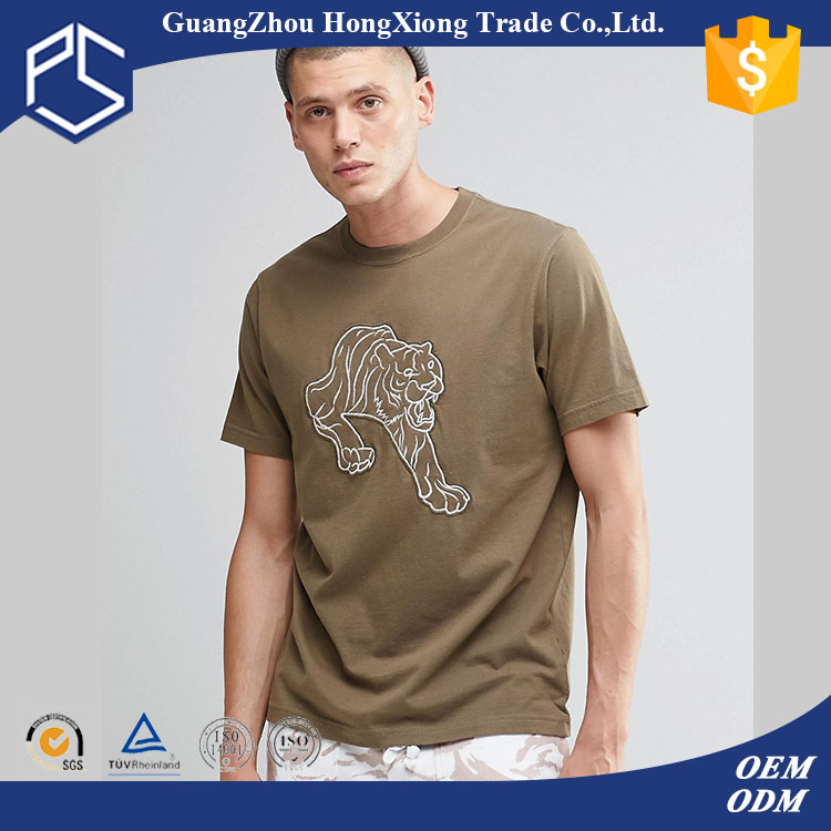 Factory Fashion New Design Custom Cheap Cotton Mens Embroidered T Shirt