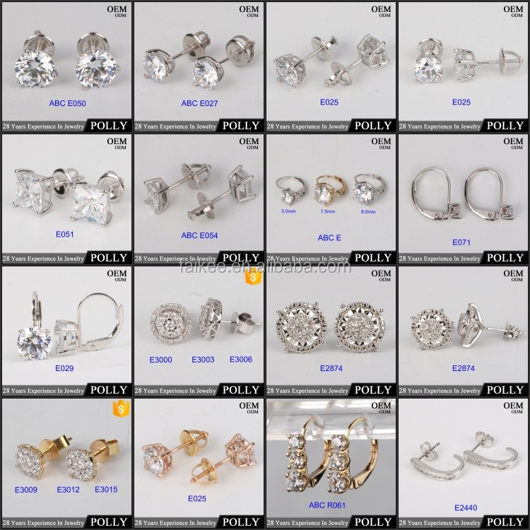 Hot sale women style 14k solid gold earring yellow gold jewelry wholesale