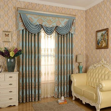 High Quality new fancy chenille living room window curtain fabric