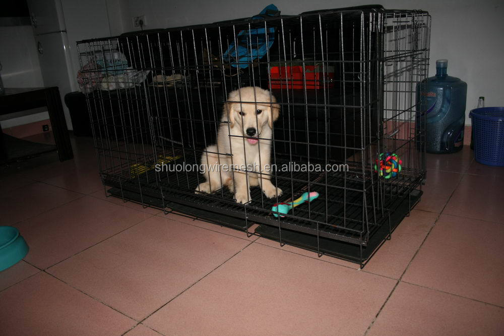 Many colors portable dog kennel,strong steel bar pet cage,sloping dog cages .
