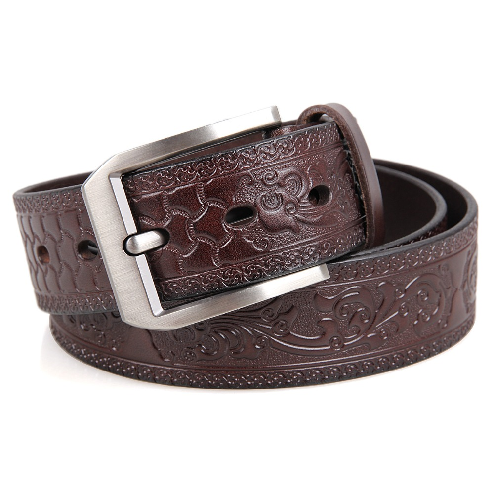 Customize <strong>100</strong>% Genuine Leather Men's Belt Classic Waist Belt For Man B001Q-<strong>2</strong>