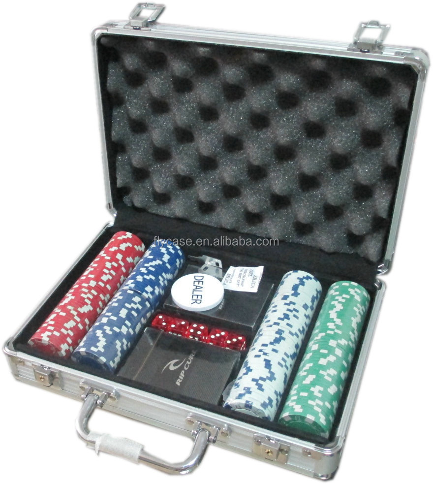 Aluminum stylish design and impactful professional custom premium 100 poker chip set with competitive price
