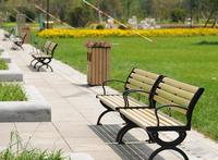 2014 Eco-friendly Durable Wood Plastic Composite WPC Park Seats
