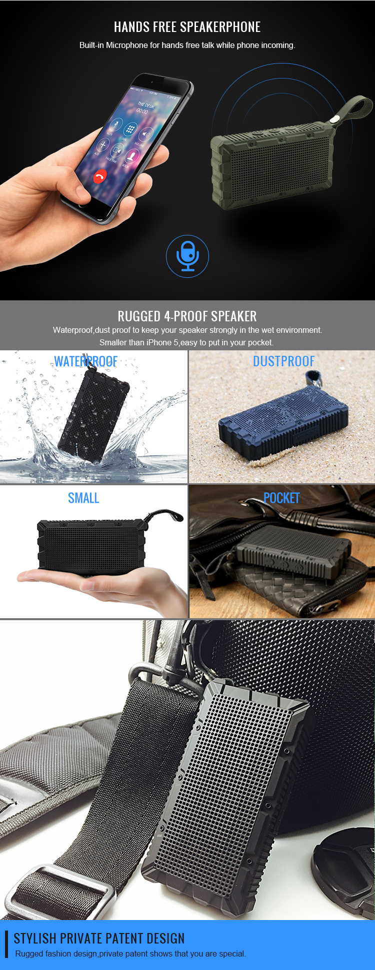 Wholesale Factory Price Portable Mini Wireless Bluetooth Speaker with Amazing sound