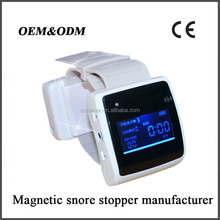 Newest magnetic snore stopper smart bracelet health sleep monitoring white noise machine