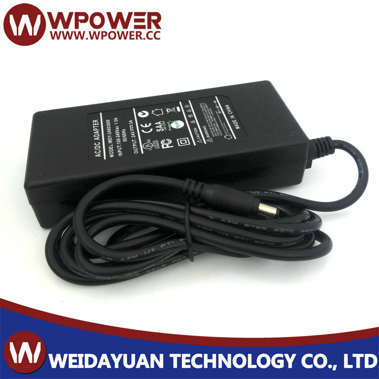 AC to DC Power Adapter UL 24 Volt 3 Amps 72 Watts Desktop type
