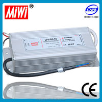 Factory outlet IP67 waterproof 60W 12v led driver