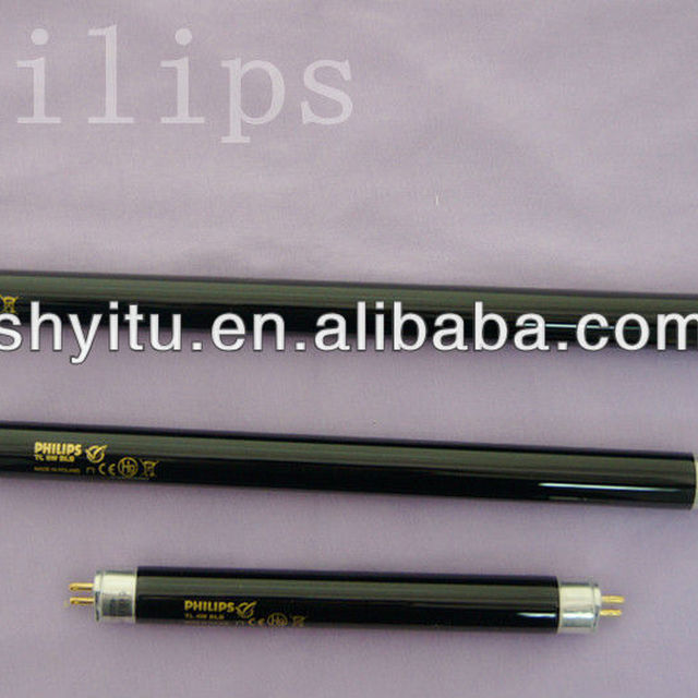 Philips germicidal UV lamps black tube TL 8W BLB